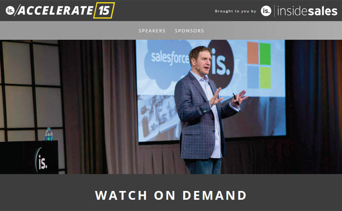 Accelerate, Inside Sales