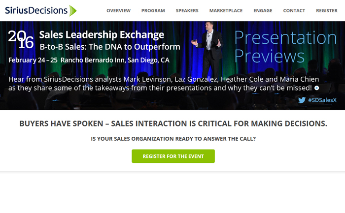 SiriusDecisions, Sales Leadership Exchange